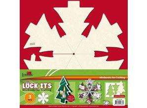 Scrapbooking ... Bastelset: für 3 Scrapbooking Minibooks Weihnachtsbaum