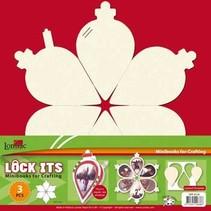 Bastelset: für 3 Scrapbooking Minibooks Weihnachtskugel