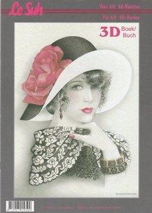 BILDER / PICTURES: Studio Light, Staf Wesenbeek, Willem Haenraets 3D Bastelbuch A4 für 60 Karten, Damen mit Hut