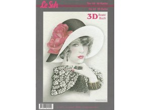 BILDER / PICTURES: Studio Light, Staf Wesenbeek, Willem Haenraets 3D Bastelbuch A4 for 60 cards, women with hat