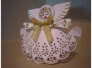 """Marianne Design Prægning og Schneideshablone, skabelon Craftables """"Angel med Banner"""" CR1233"""