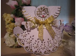 "Marianne Design Embossing and Schneideshablone, template Craftables ""Angel with Banner"" CR1233"