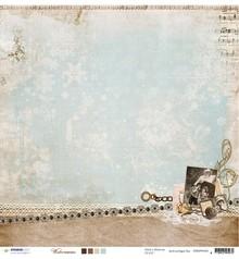 Designer Papier Scrapbooking: 30,5 x 30,5 cm Papier Designer Bow, 30,5 x 30,5 cm Winter Memories NR02