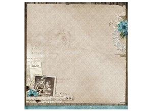 Designer Papier Scrapbooking: 30,5 x 30,5 cm Papier Designer Bow, 30,5 x 30,5 cm Winter Memories Nr03