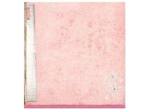 Designer Papier Scrapbooking: 30,5 x 30,5 cm Papier Designer Bow, 30,5 x 30,5 cm sød Vintersæson NR02
