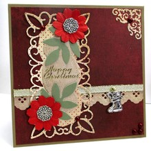 Marianne Design Cutting and embossing stencils, decorative frame + 2 leaves