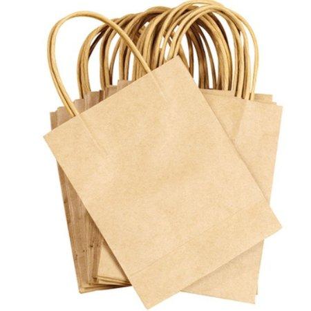 Objekten zum Dekorieren / objects for decorating 5 starke mini Bastel Naturel Papiertüten