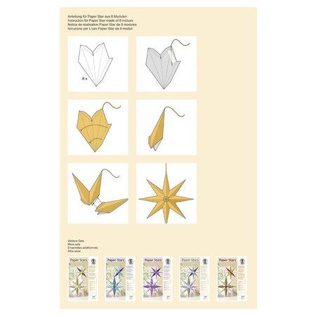 """Exlusiv Paper Stars, """"Lounge"""", Set für 6 Sterne"""