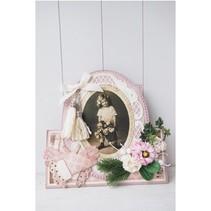 marco decorativo plantillas de punzonado y estampado en relieve intrincado