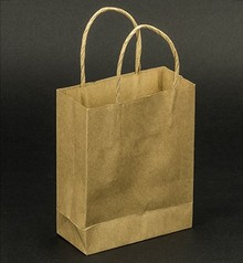 Objekten zum Dekorieren / objects for decorating 5 strong mini craft Naturel paper bags