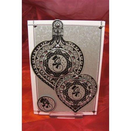 Viva Dekor und My paperworld Transparent Stempel, 3D Weihnachtskugel Schneemann