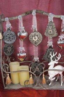 Viva Dekor und My paperworld Sellos transparentes, bola de Navidad 3D con la campana