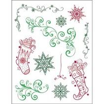 tampons transparents, 3D Christmas Theme