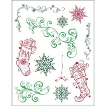 Transparent stamps, 3D Christmas Theme