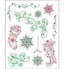 Viva Dekor und My paperworld Gennemsigtige frimærker, 3D Jul