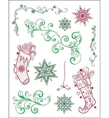 Viva Dekor und My paperworld sellos transparentes, Navidad 3D Tema