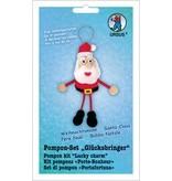Kinder Bastelsets / Kids Craft Kits Bastelset: Pompon-Set Glücksbringer Weihnachtsmann