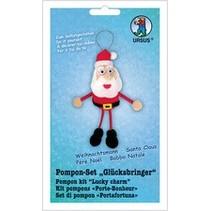 Bastelset: Pompon-Set Glücksbringer Weihnachtsmann