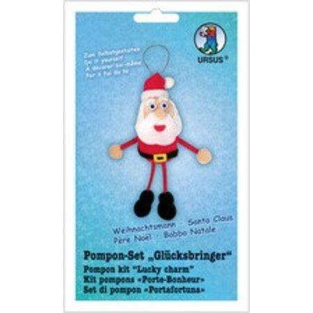 Kinder Bastelsets / Kids Craft Kits Bastelset: Pompon-sæt Lucky Charms Julemanden