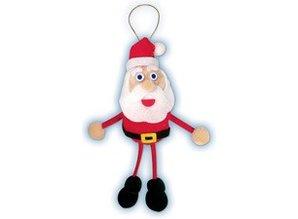 Kinder Bastelsets / Kids Craft Kits Bastelset: Portafortuna Pompon-Set Santa Claus