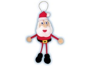 Kinder Bastelsets / Kids Craft Kits Bastelset: Set-Pompon Lucky Charms de Santa Claus