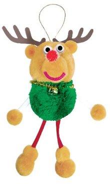 Kinder Bastelsets / Kids Craft Kits Bastelset: Pompon-Set Glücksbringer rensdyr