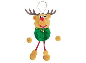 Kinder Bastelsets / Kids Craft Kits Bastelset: Pompon-Set Glücksbringer reindeer