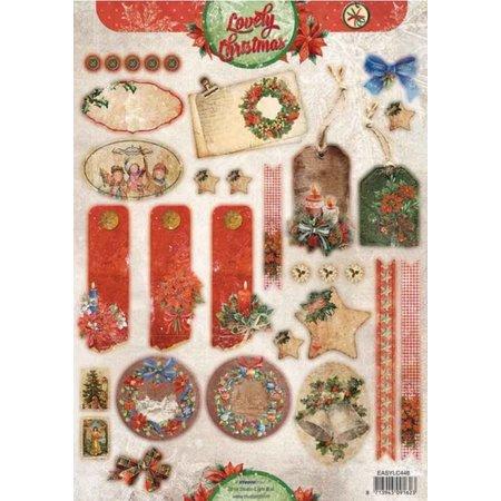 BILDER / PICTURES: Studio Light, Staf Wesenbeek, Willem Haenraets A4 Stanzbogen, Vintage Line weihnachtlich Schildchen/Anhänger StudioLight