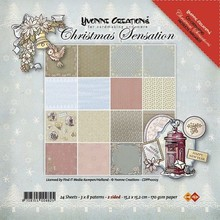 DESIGNER BLÖCKE  / DESIGNER PAPER Yvonne Creations - carta - Confezione Natale Sensation