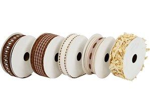 DEKOBAND / RIBBONS / RUBANS ... 5 dekorative bånd