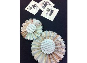 Sizzix Skæring og prægning stencils, Tim Holtz ombygninger, Mini Paper Rosettes