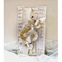 Skæring og prægning stencils, Tim Holtz ombygninger, Mini Paper Rosettes