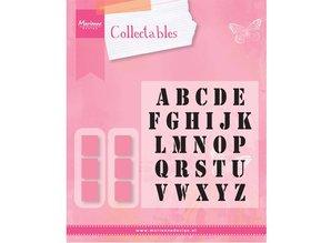 Marianne Design Skæring og prægning stencils Marianne Design, Collectable Stamp alfabet