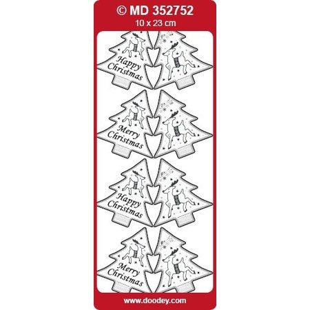 Sticker Pegatinas, etiquetas como árboles de Navidad