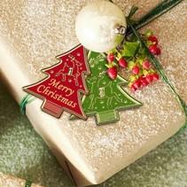 Sticker, 4 Weihnachtsbaume som etiketter