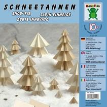 Bastelset: Schneetannen 10 Blatt 30x30cm 125g/m² Elefantenhaut