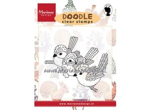 Stempel / Stamp: Transparent Stamp, Transparent, 3 birds