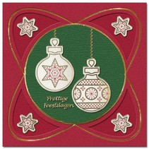 Borduur stickers, kerstbal voor
