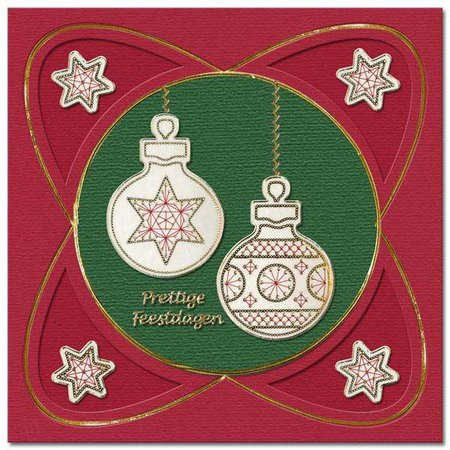 REDDY Sticker, Weihnachtskugel zum besticken