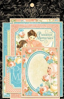 Graphic 45 Grafisk 45, Precious Memories Ephemera Cards