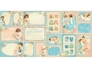 Graphic 45 Gráfico 45, Precious Memories Ephemera Tarjetas