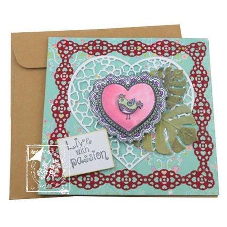 Joy!Crafts und JM Creation Gennemsigtige frimærker Lovebirds