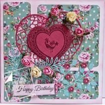 Gennemsigtige frimærker Lovebirds