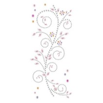"""Gemstone Sticker, """"ornaments"""", pink and white"""