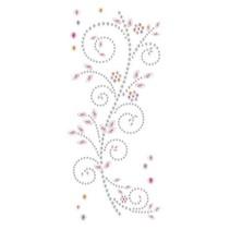 """Schmuckstein-Sticker,"""" Ornamente"""", rosa und weiß"""