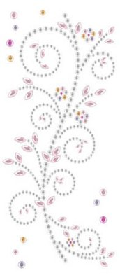 "Embellishments / Verzierungen Gemstone Sticker, ""ornaments"", pink and white"