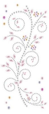 "Embellishments / Verzierungen Gemstone Sticker, ""ornamenter"", pink og hvid"