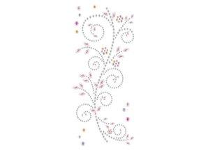 """Embellishments / Verzierungen Schmuckstein-Sticker,"""" Ornamente"""", rosa und weiß"""