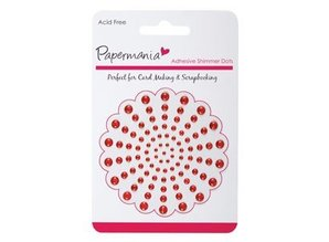 Embellishments / Verzierungen Adhesive beads, red