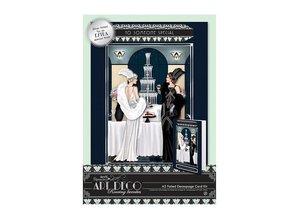 Docrafts / Papermania / Urban A5 3D Stanzbogen, Karten-Set, Art Deco